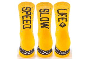 Calcetines Pacific and Co Speed/Slow Life V2.0 Amarillo