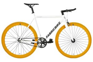 Bicicleta Fixie FabricBike Light White & Orange