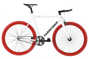 Bicicleta Fixie FabricBike Light White & Red