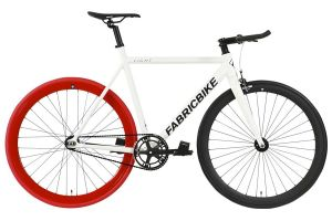Bicicleta Fixie FabricBike Light White & Red & Black