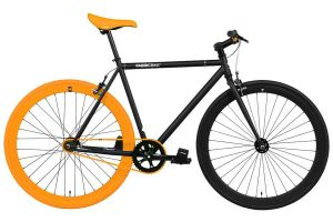 Bicicleta Fixie FabricBike Original Matte Black & Orange 3.0