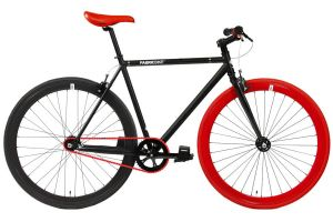 Bicicleta Fixie FabricBike Original Matte Black & Red 3.0