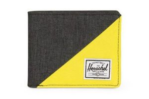 Cartera Herschel Roy RFID - Black/Yellow