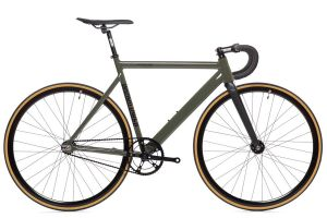 Bicicleta Fixie State Premium Black Label V2 Army Green