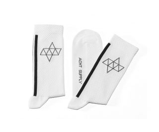 Calcetines Ciclista Acht Supply Kom Double Blanco/Negro