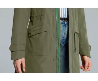 Chaqueta Impermeable Mujer Basil Mosse Verde
