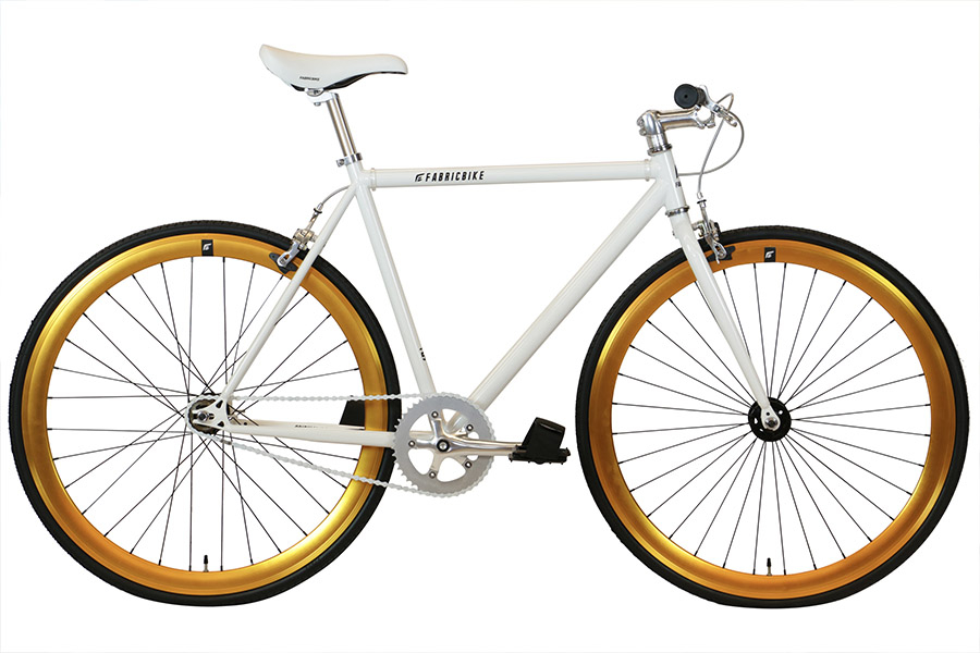 Fixie Fiets FabricBike White & Gold
