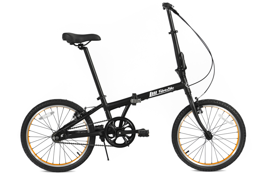 FabricBike Folding Vouwfiets - Matte Black & Orange