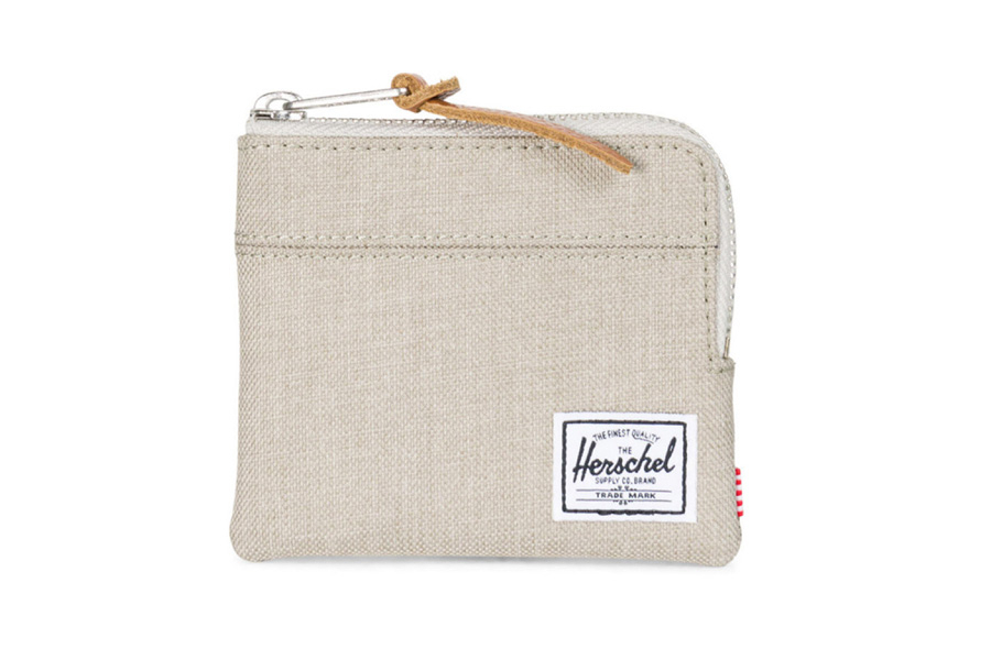 Herschel Johnny Portemonnee Light Khaki Crosshatch