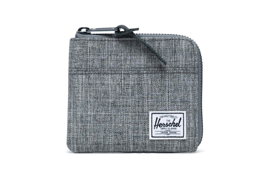 Herschel Johnny Portemonnee Raven Crosshatch