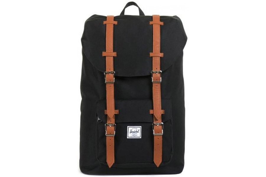 Herschel Little America Rugzak Black Tan Mid Volume