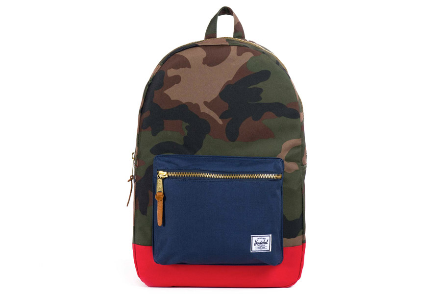 Herschel Settlement Woodland Rugzak - Camo/Navy/Red