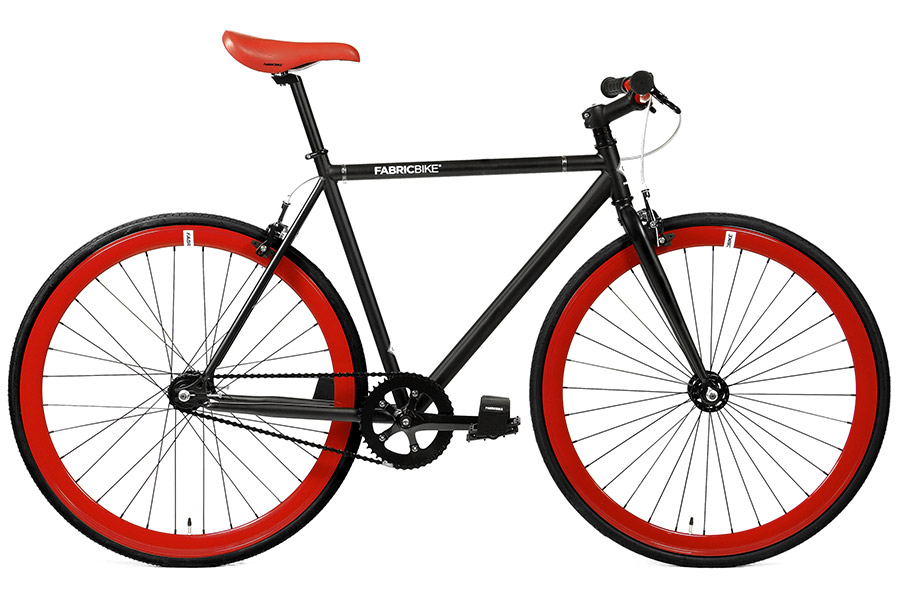 Fixie Fiets FabricBike Matte Black & Red 2.0