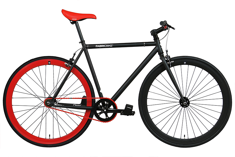 Fixie Fiets FabricBike Matte Black & Red