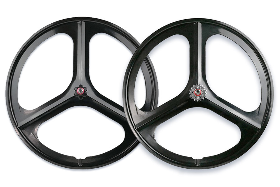 Navigate Tri Spoke Fixie Wheelset Zwart