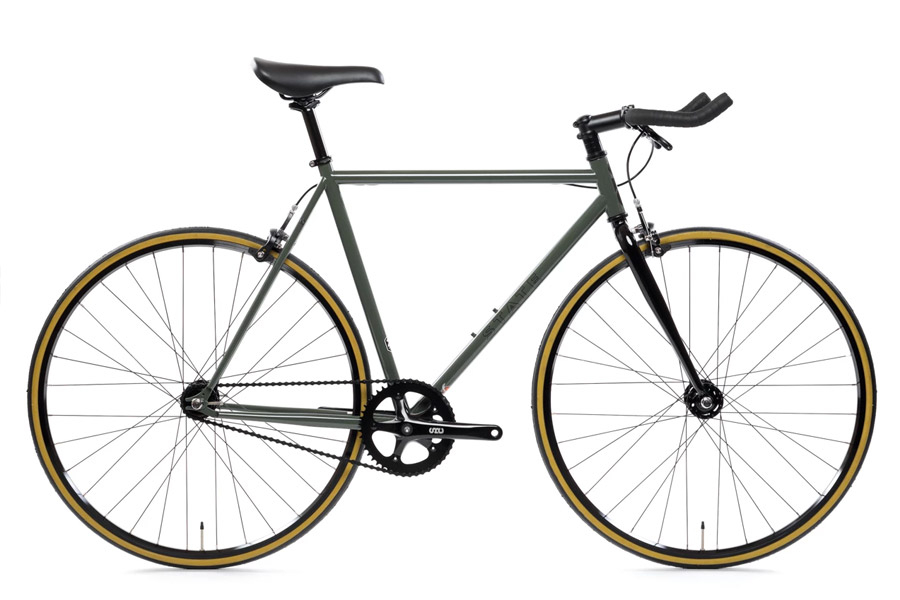 State Bicycle Co. Army Green Fixie Fiets