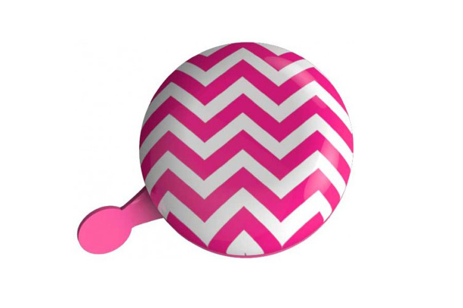 Dingdong Fietsbel - Chevron Pink